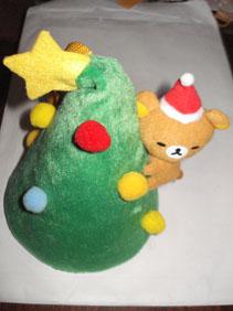 リラックマ マスコット付き クリスマスポーチ